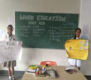 Students Showcasing the importance of Work Education